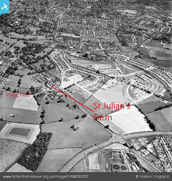 Aerial picture 1933