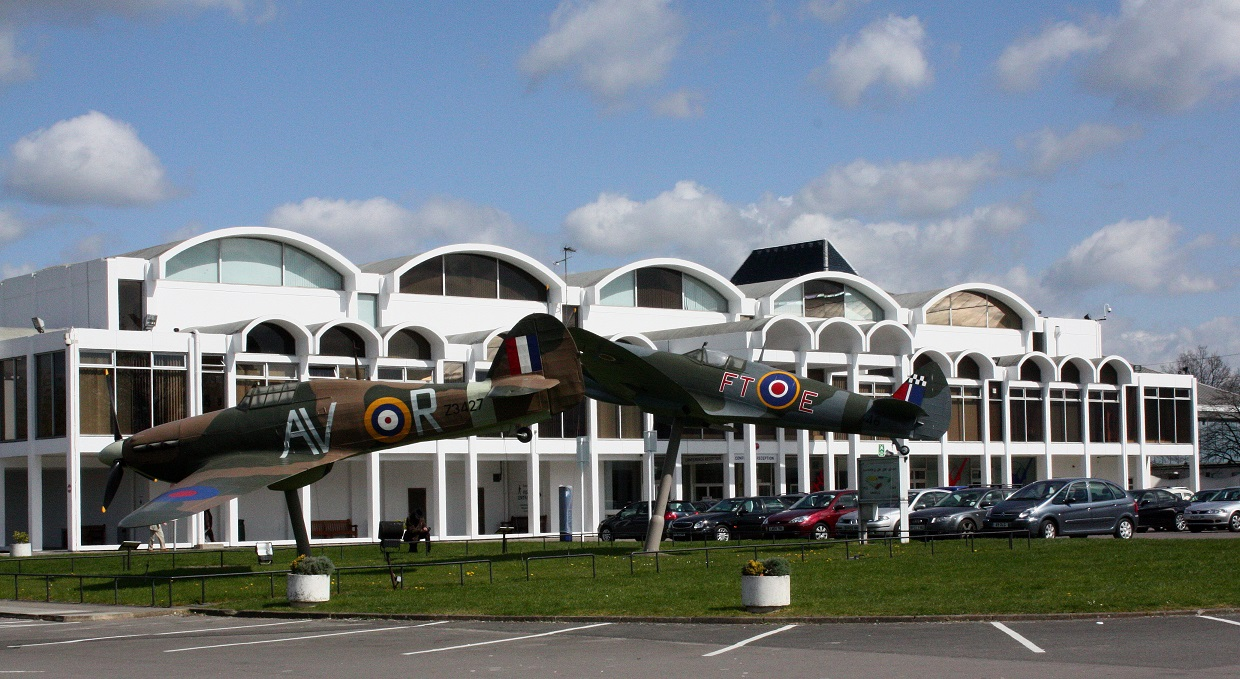 RAF museum, front entrance display