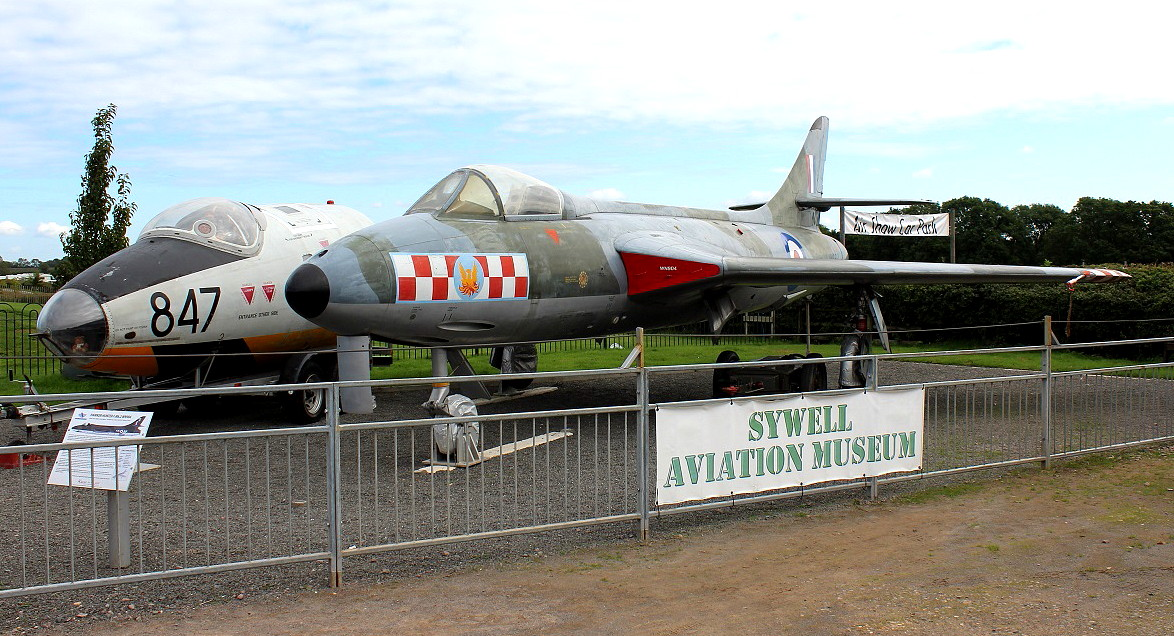 Hawker Hunter F.Mk.2 (WN904) and Canberra front fuselage