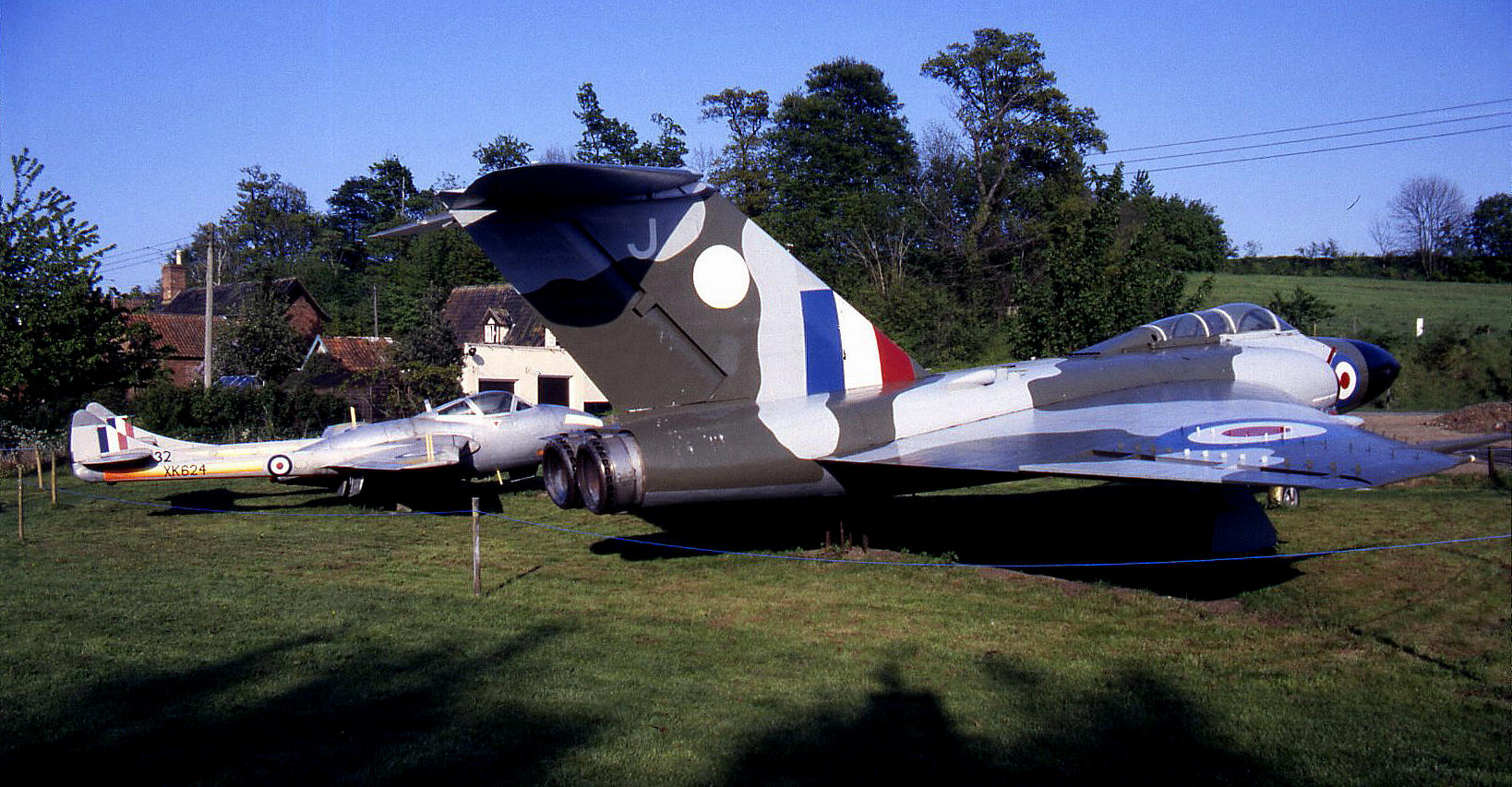 The Gloster Javelin FAW.9R (XH892) with the DH Vampire T.II (XK624) behind