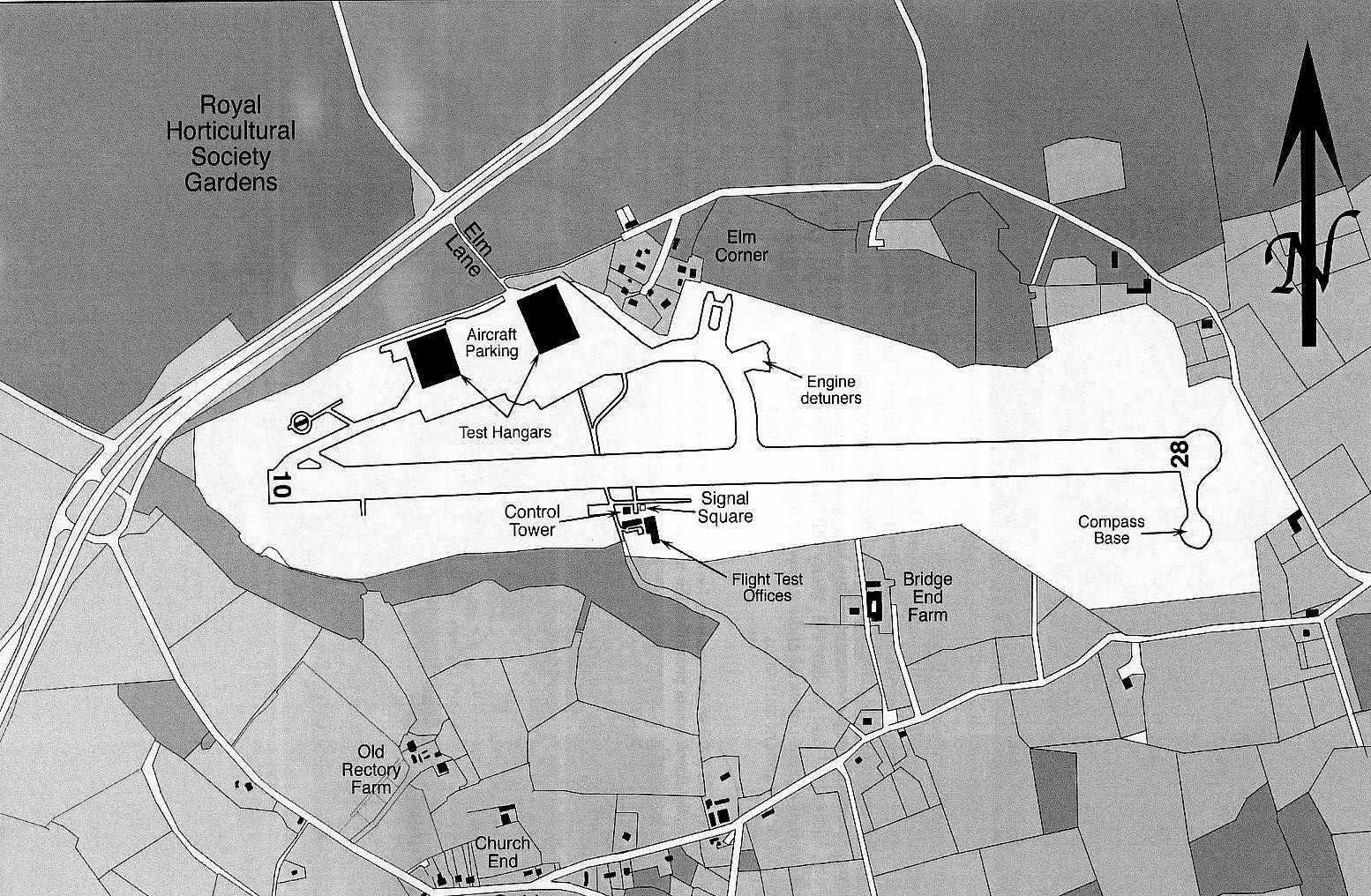 Plan of Wisley circa 1960s