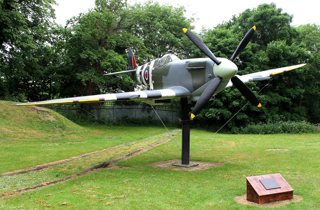The full scale model of a Spitfire