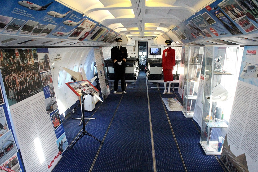 The interior and display of the Palmair 737