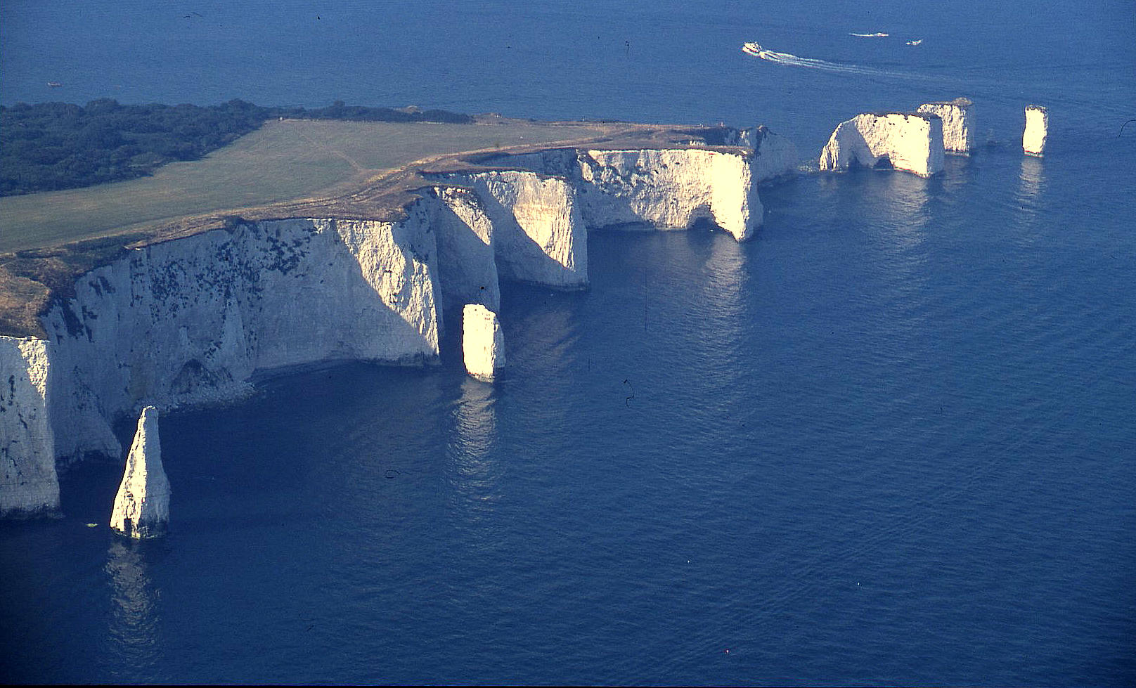 Old Harry Rocks in Dorset, 2001
