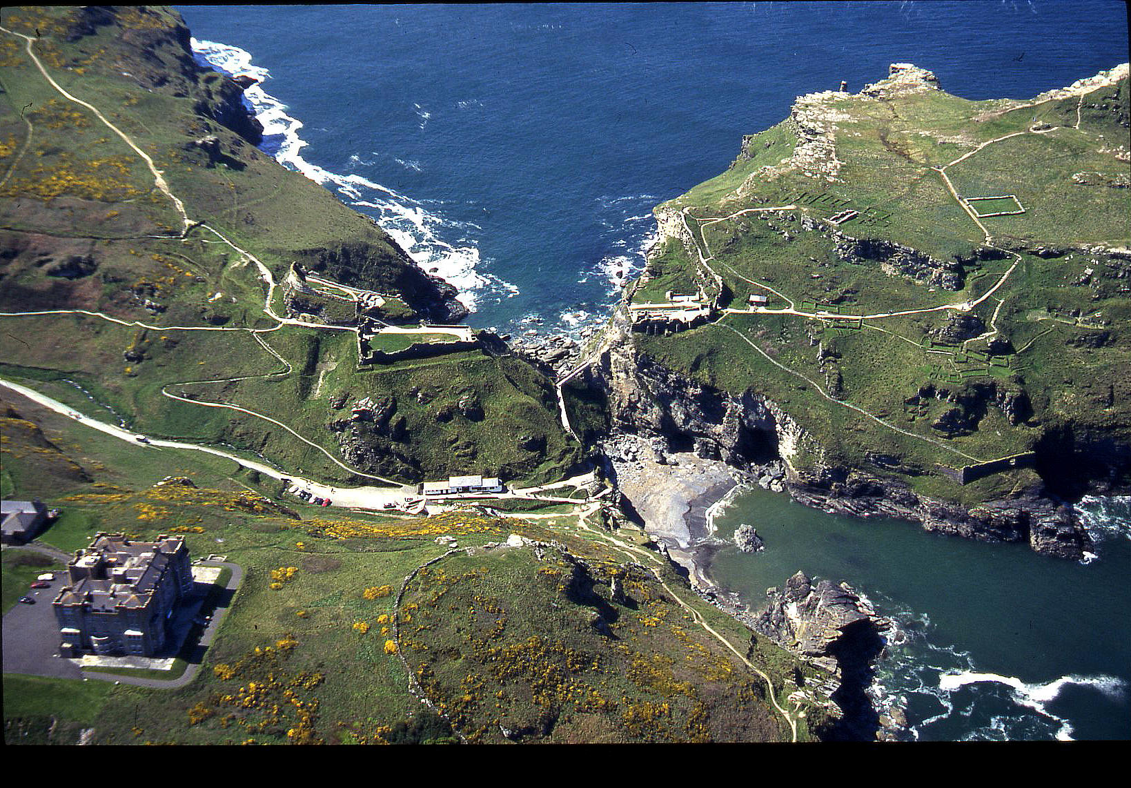 Tintagel, Cornwall in April 2000