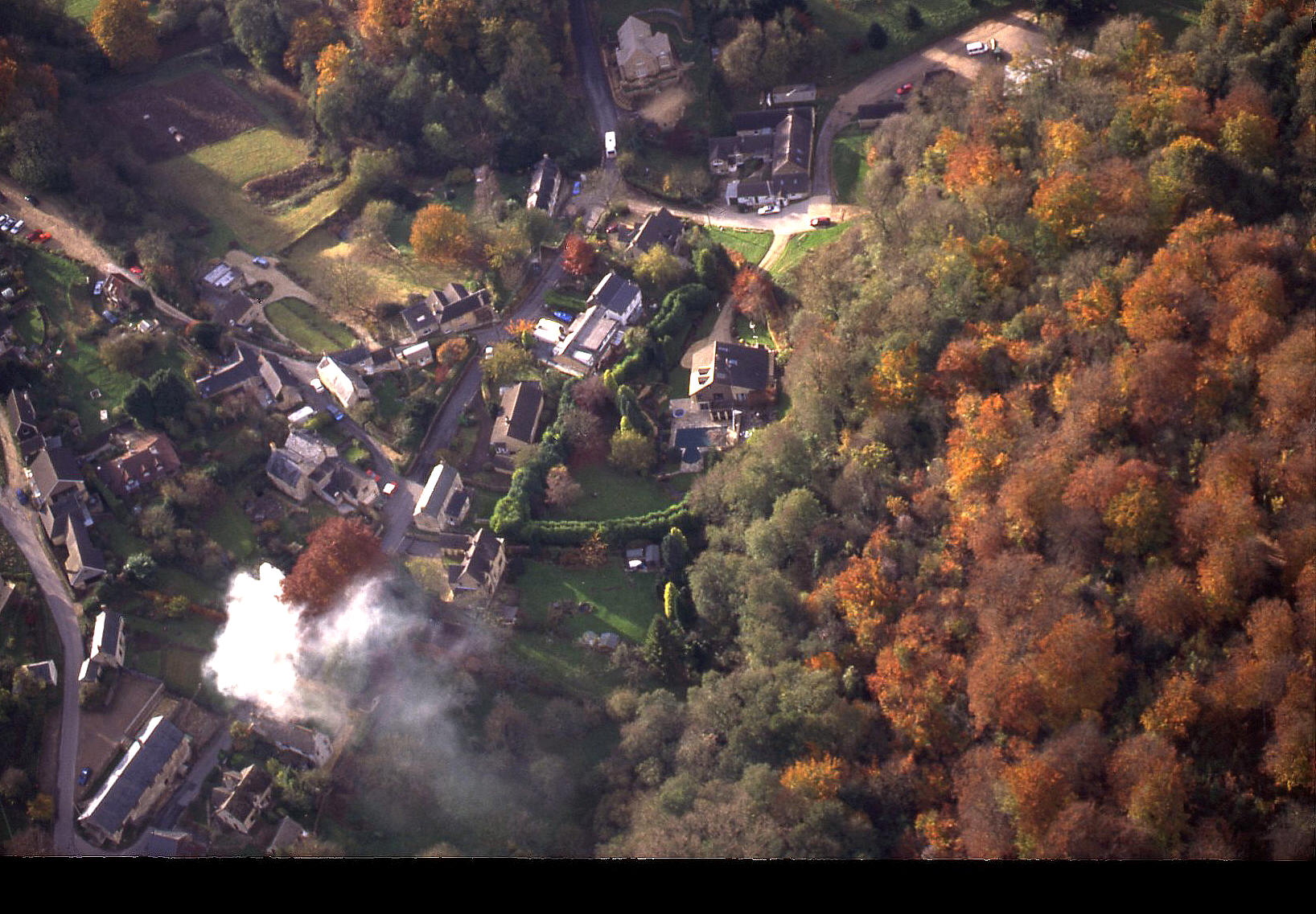 A village in the Cotswolds, autumn 1998