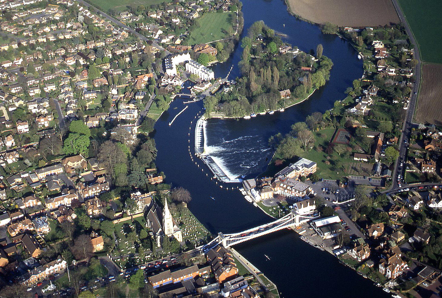 Marlow on the river Thames in Buckinghamshire