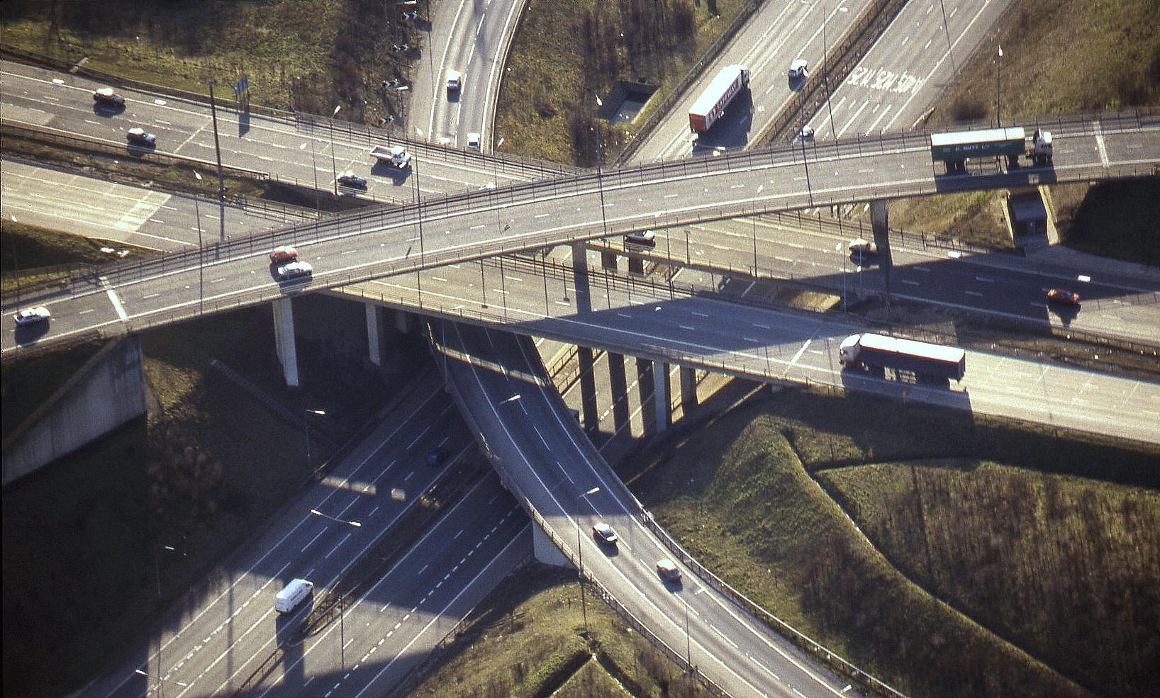 Junction of the M.1 & M.25 motorways, (Hertfordshire), circa mid 1990s
