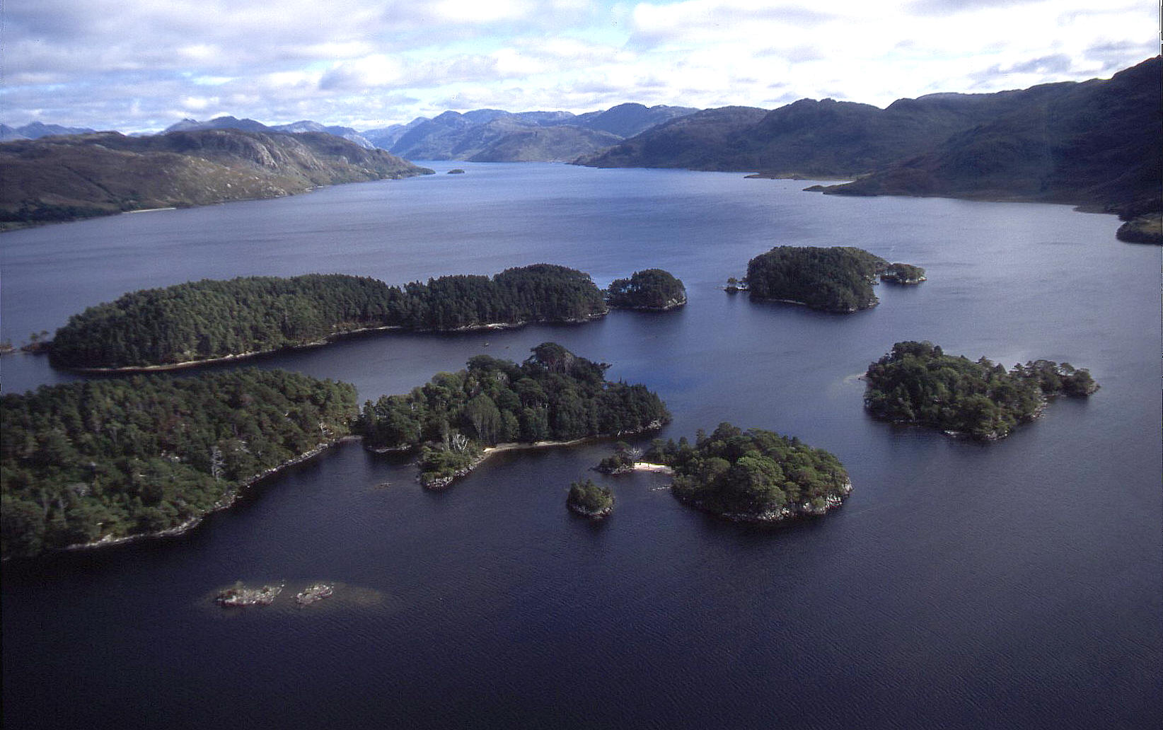 Loch Morar in the west of Scotland
