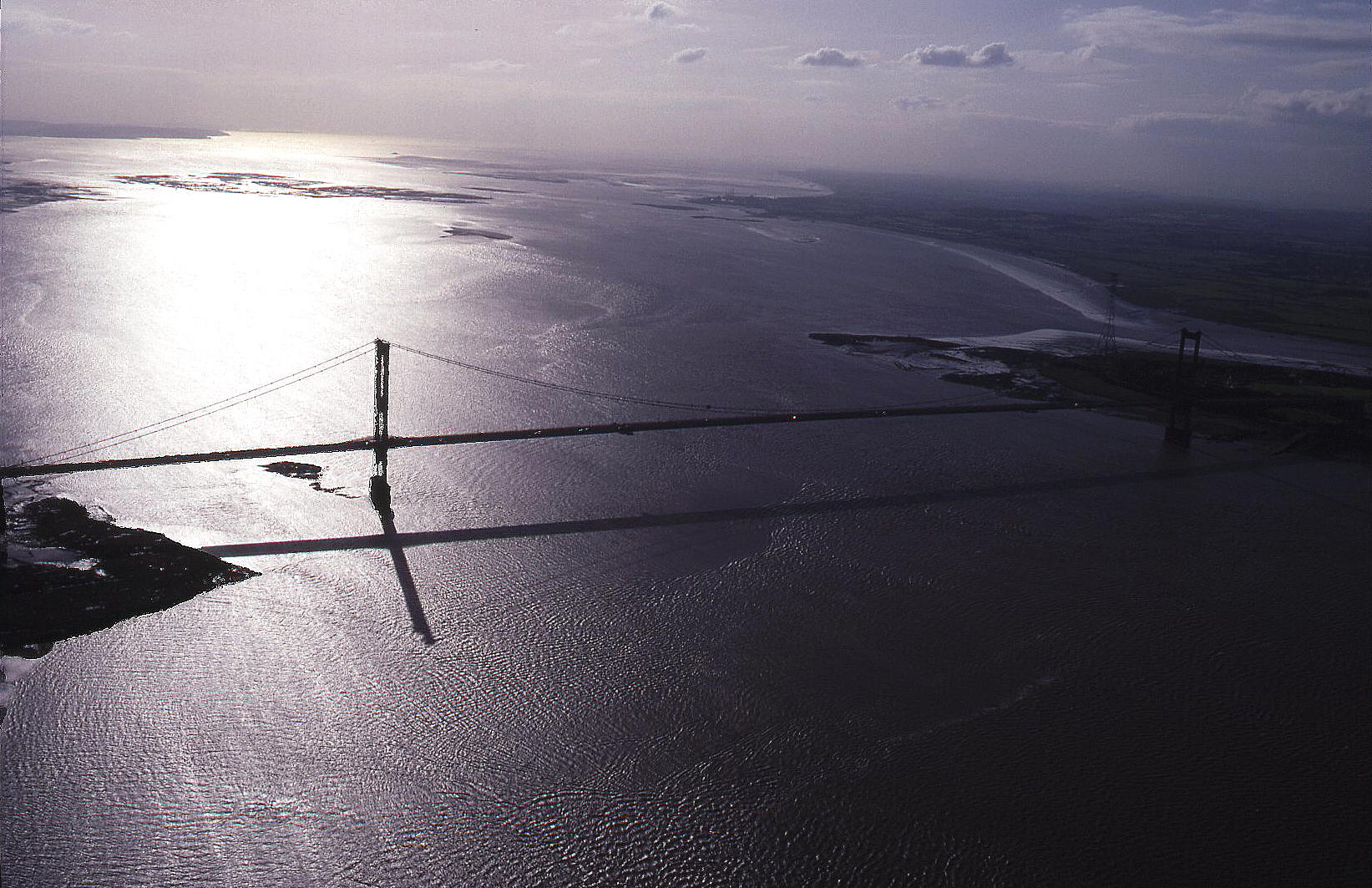 The first Severn bridge, circa early 1990s