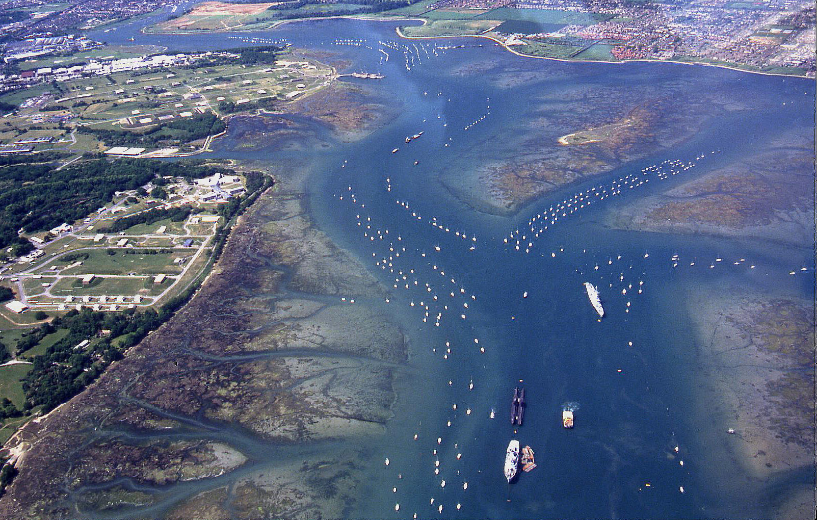 The northern end of Portsmouth harbour, circa 1990