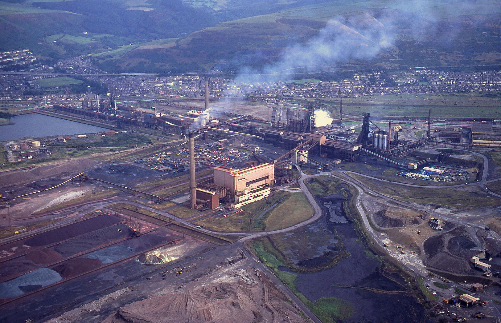 Port Talbot steelworks, South Wales, August 1996. See note 23
