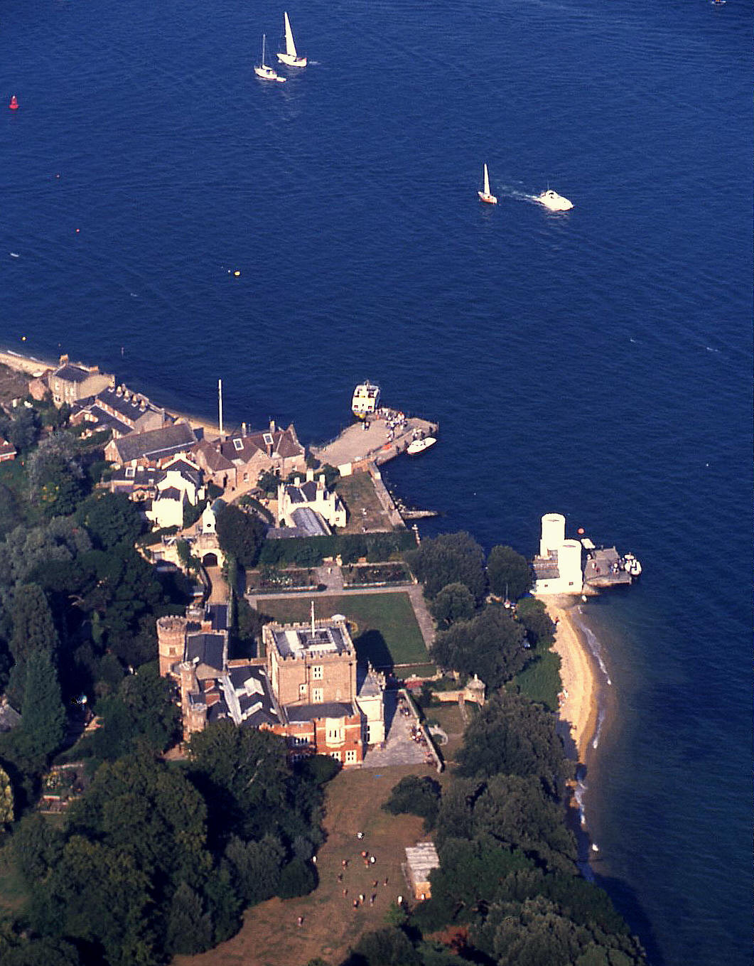 Brownsea Island detail, Poole Harbour, Dorset in 2001