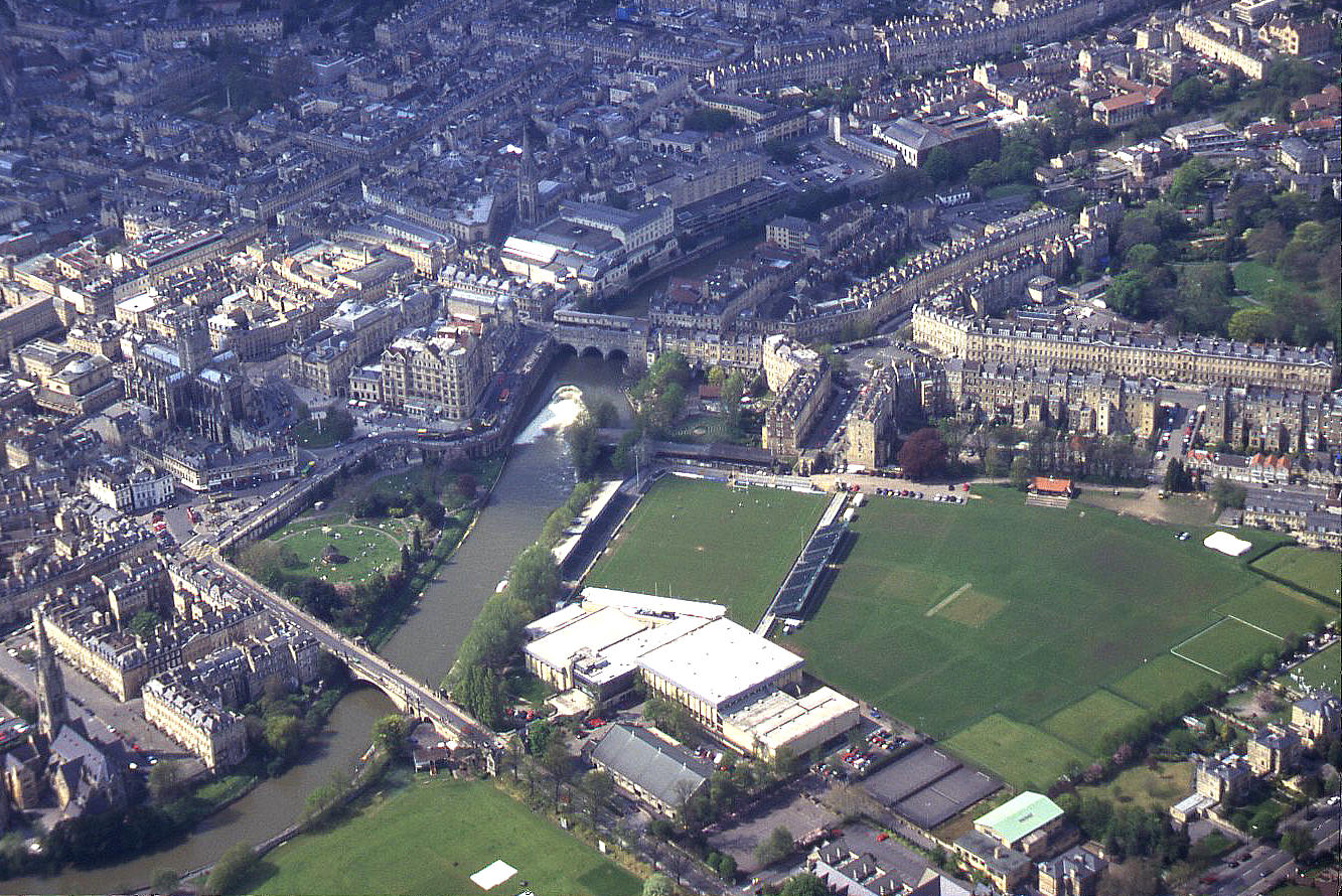The town centre in Bath, Somerset, 2000