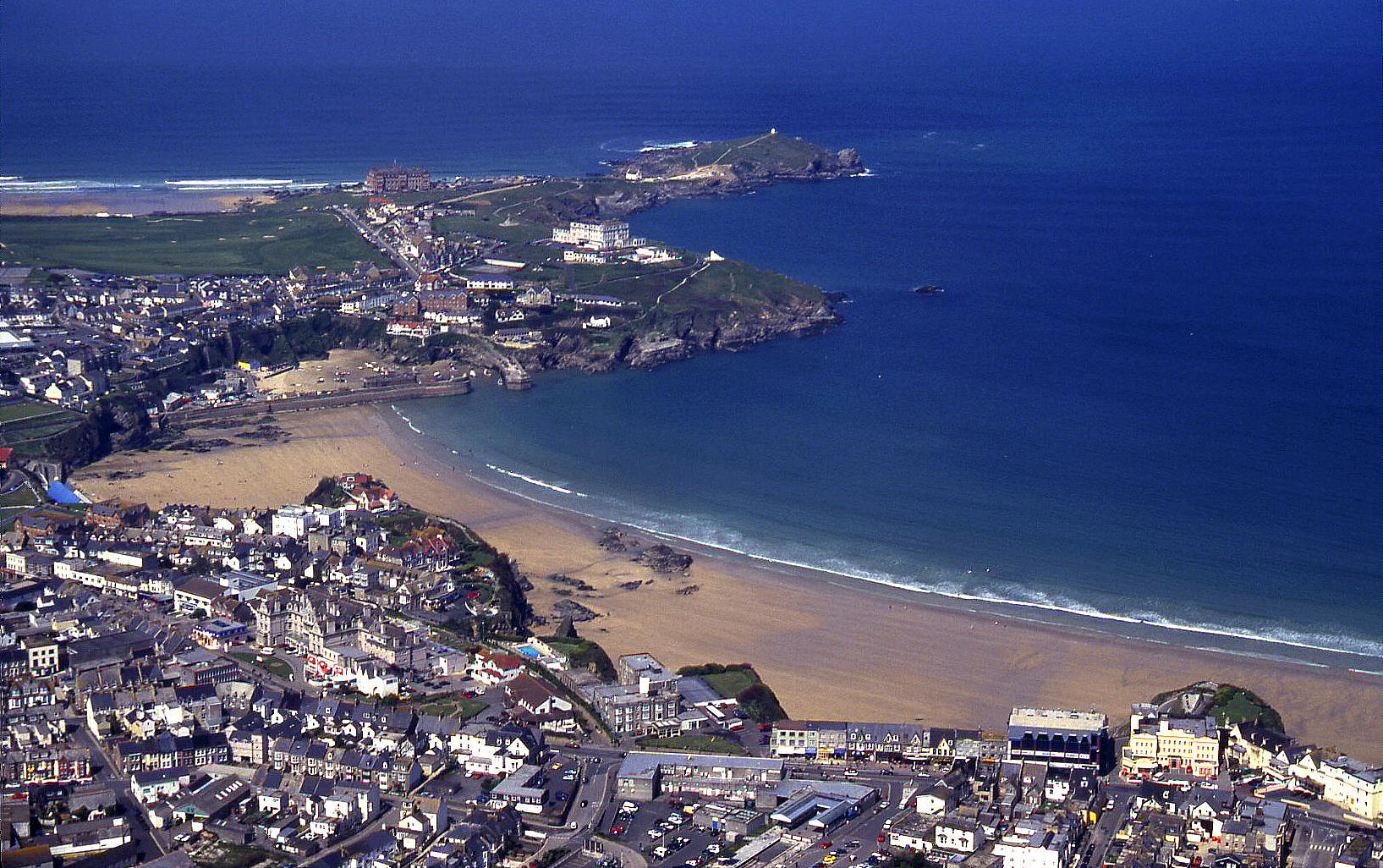 Newquay, Cornwall in April 2000