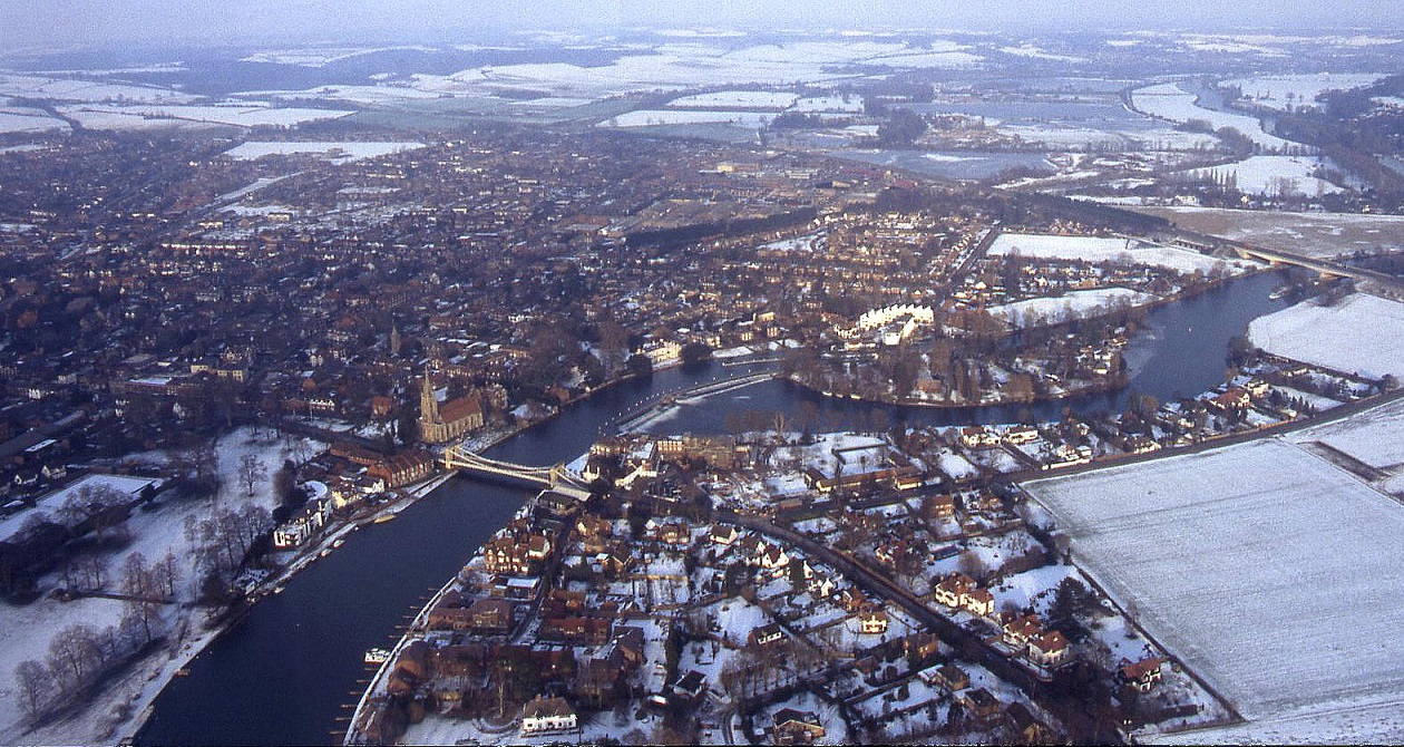 Marlow in the snow, February 1991