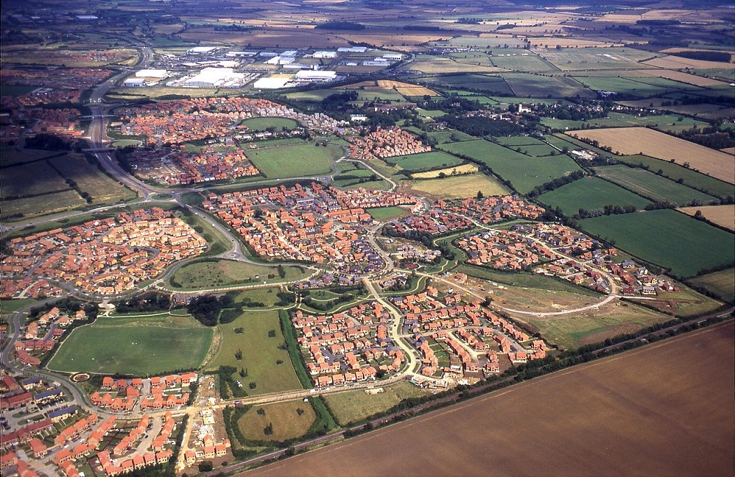 A housing estate in Milton Keynes - see note 14