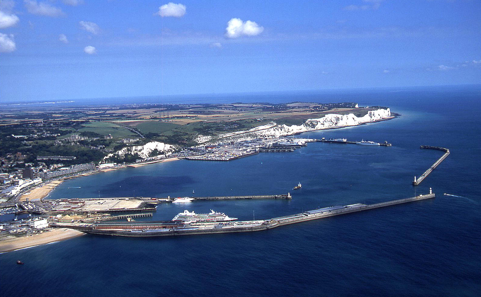 Dover docks in August 2001 - see note 15