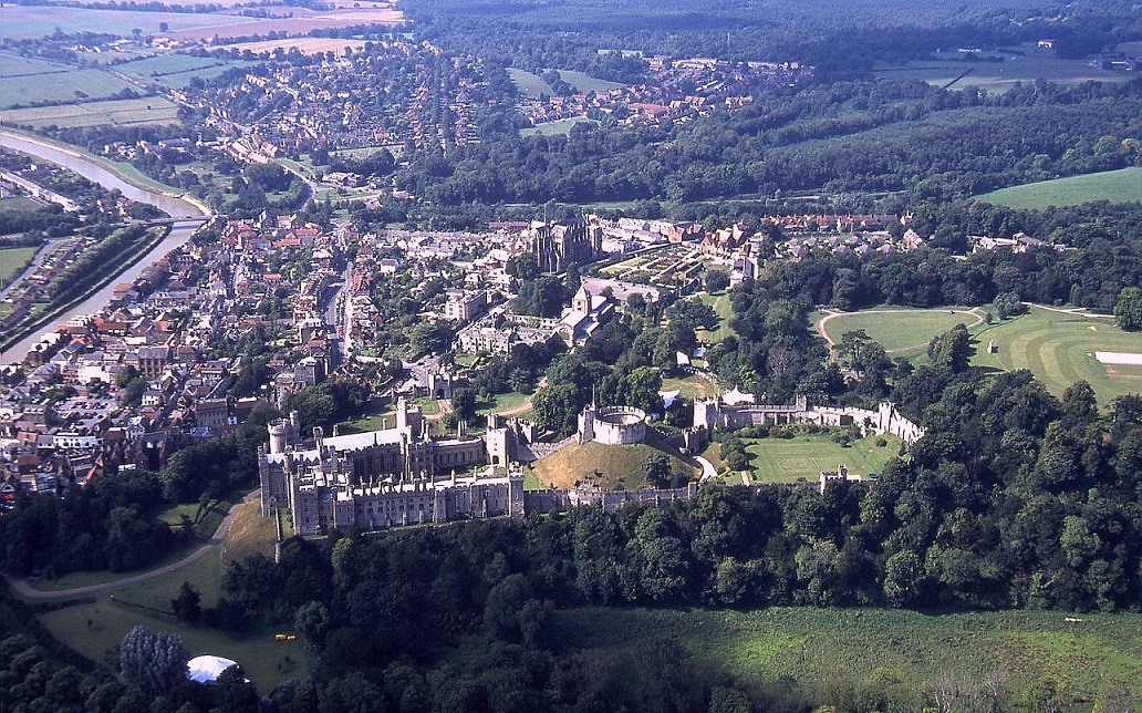 Another view of Arundel and the castle in 2001