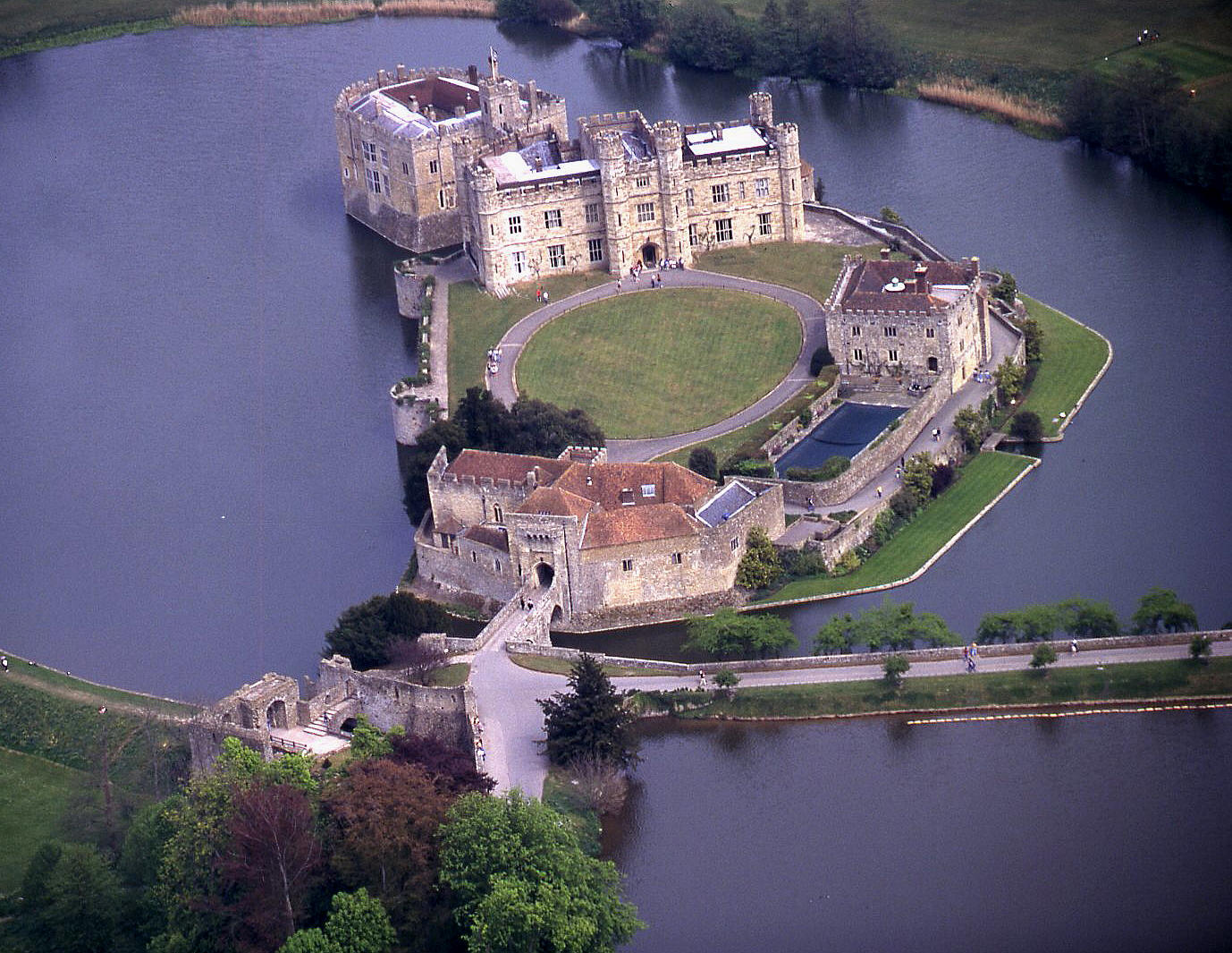 A closer view of Leeds Castle in Kent
