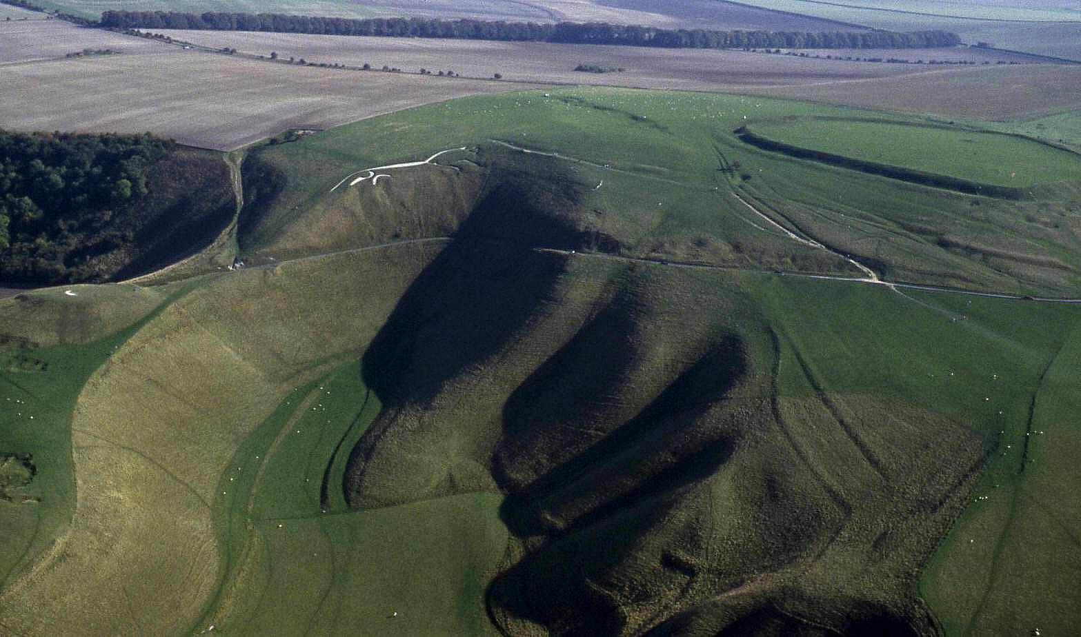 The Uffington White Horse and Bronze Age settlement, Oxfordshire, 1995