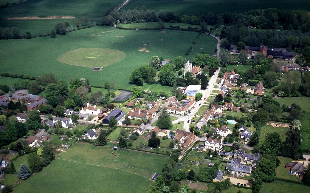 A typical English village, Westmill in Hertfordshire