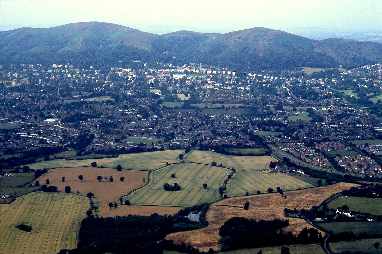 Elgar country today, Malvern with the hills beyond