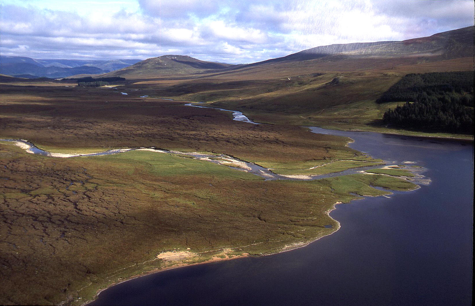 The view looking north from Loch Pattack. The smallest Loch landed on in 2002