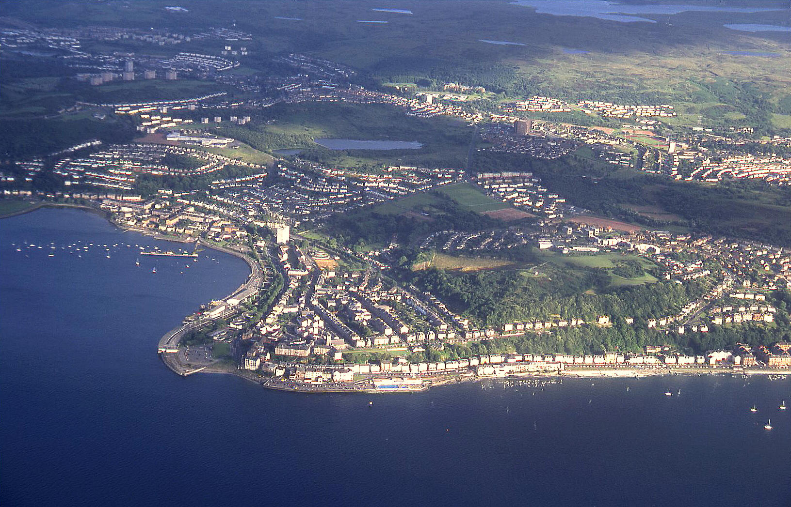Gourock, at the top of the Firth of Clyde, Scotland - 2003