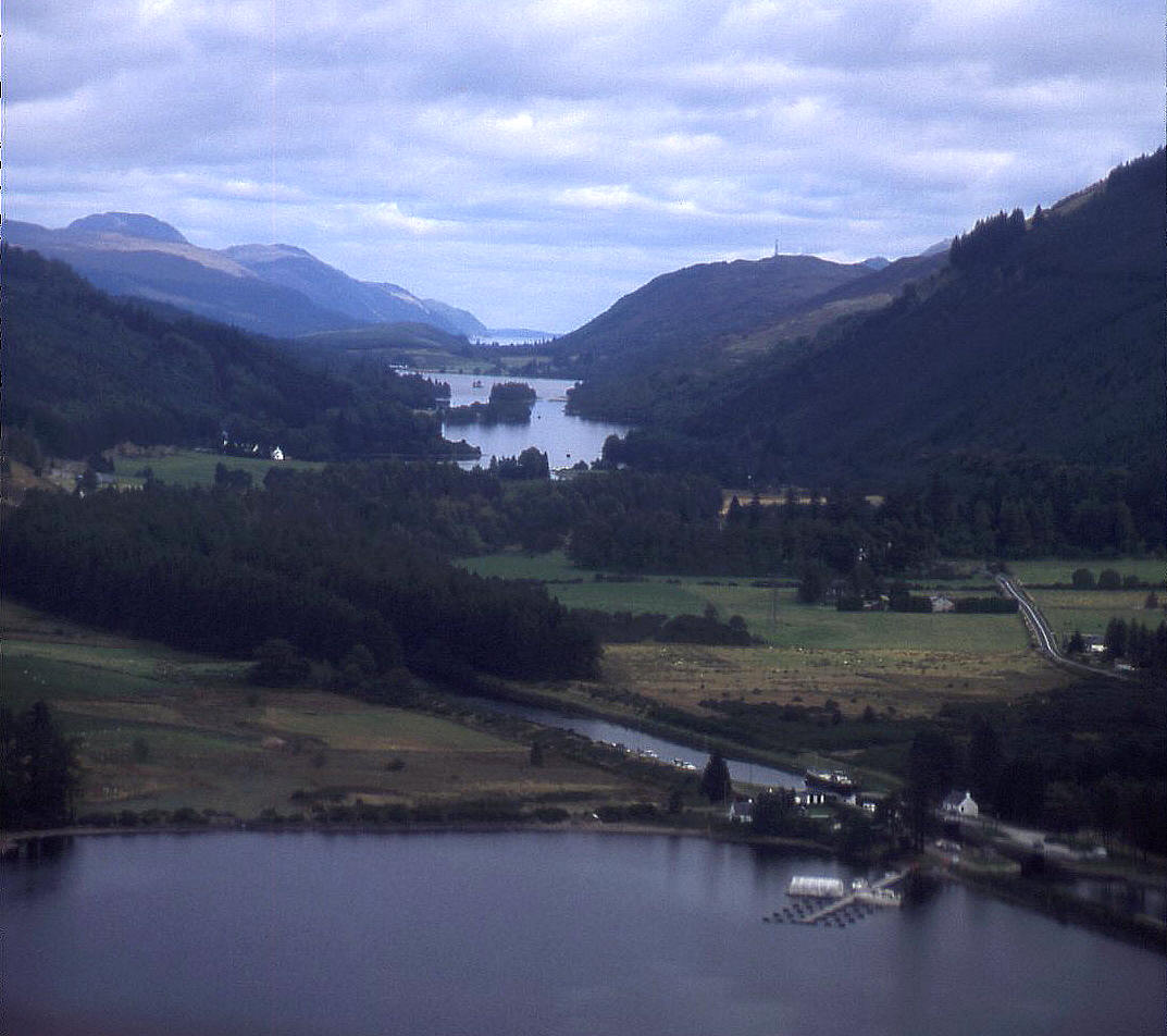Loch Oich, (centre of picture), the smallest Loch in the Great Glen, Scotland