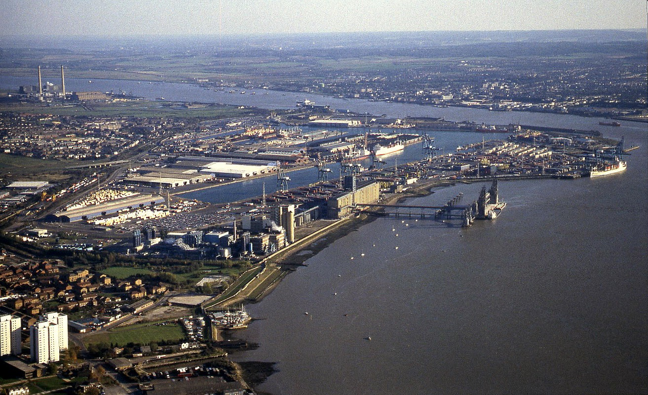 Tilbury docks, river Thames, Essex - see note 26