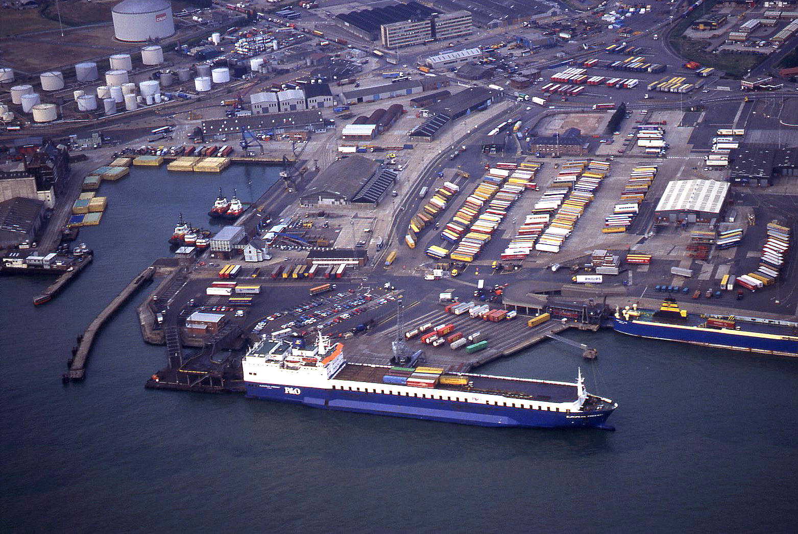 The Ro-Ro terminal in Felixstowe, Suffolk