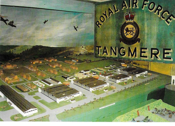 A model of the airfield, presumably in WW2