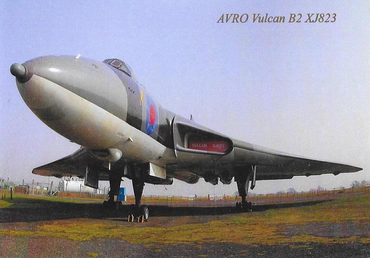 The Vulcan XJ823 on display