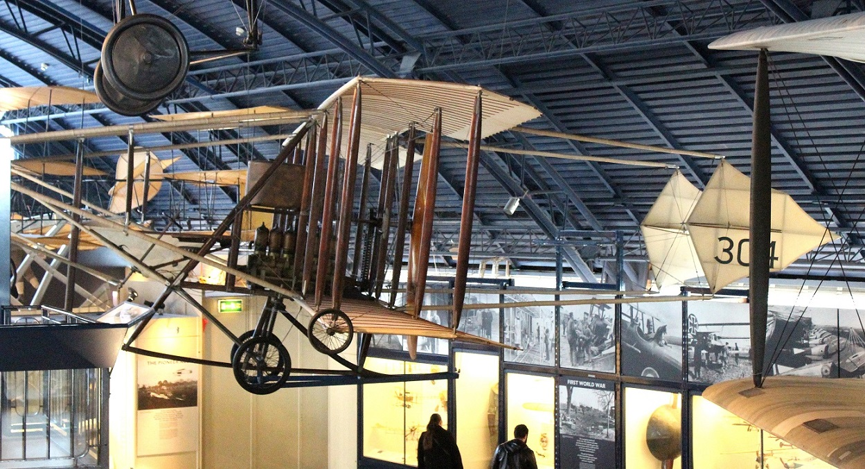 Another view of the Cody Military Biplane