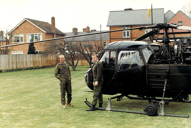 The Westland Scout on the lawn
